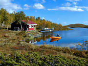 buildings, fishing hut, hunting hut, hunting cabin, Lapland, mountain hut, Tjarnberg