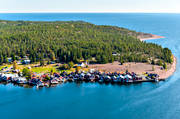 aerial photos, aerial picture, aerial pictures, Angermanland, boat house, cabins, fishing village, flygbilder, installations, landscapes, Norrfällsviken, port, summer