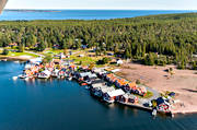aerial photo, aerial photo, aerial photos, aerial photos, Angermanland, boat house, cabins, drone aerial, drönarfoto, fishing village, installations, landscapes, Norrfällsviken, port, summer