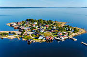 aerial photos, aerial picture, aerial pictures, boat house, cabins, fishing village, flygbilder, Halsingland, idyll, Ingask�r, island, islands, landscapes, R�nnsk�r, samh�llen, Stocka, Stockaviken, summer