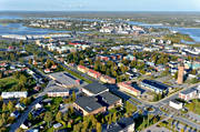 aerial photo, aerial pictures, autumn, drone aerial, Haparanda, North Bothnia, samhällen