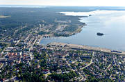 aerial photo, aerial pictures, drone aerial, Halsingland, Hudiksvall, landscapes, städer, summer