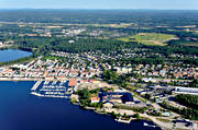 aerial photo, aerial pictures, boat harbour, drone aerial, Halsingland, Hudiksvall, landscapes, port, small-boat harbour, städer, summer