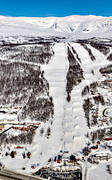 aerial photo, aerial pictures, drone aerial, flygfoton, Hemavan, journeys down, Lapland, samhällen, ski resort, ski slopes, winter