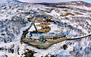 aerial photo, aerial photo, aerial photos, aerial photos, drone aerial, drönarbild, drönarfoto, installations, Jamtland, ski resort, spring, spring mountains, spring-winter, Storulvan, Swedish Tourist Association