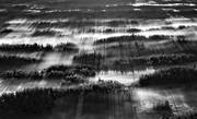 aerial photo, aerial photo, aerial photos, aerial photos, black-and-white, bog soils, cold, cold, deserted, drone aerial, drönarfoto, fog, Jamtland, landscapes, marsh lands, myrholmar, wasteland, wilderness, winter