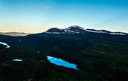 aerial photo, aerial pictures, drone aerial, Jamtland, landscapes, mountain forest, mountain mere, Munsfjallet, summer, swedish mountains