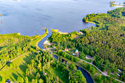 aerial photo, aerial pictures, attractions, channel, communications, drone aerial, Göta kanal, installations, landscapes, summer, Tåtorp, Viken, Västergötland, water