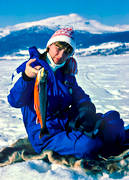 angling, Are, Are lake, Areskutan, char, fishing, fishing through ice, girl, girl, ice fishing, ice fishing, winter fishing, woman