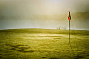 fog, golf, golf course, grass, landscapes, lawn, morning mist, nature, sport, summer, various