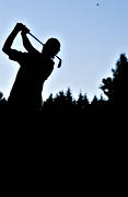 golf, golf player, golfare, silhouette, slag, sport, summer, various