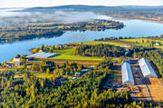aerial photo, aerial pictures, autumn, drone aerial, farms, greenhouse, gurkodling, Hietalas Handelsträdgård, installations, Korva, landscapes, North Bothnia, polar circle, tomatodling