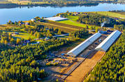 aerial photo, aerial pictures, autumn, drone aerial, farms, greenhouse, gurkodling, Hietalas Handelsträdgård, installations, Korva, North Bothnia, polar circle, tomatodling