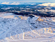 aerial photo, aerial pictures, dead ice area, drone aerial, Grondalen, issjön, istidsälvar, Jamtland, landscapes, pyramiderna, swedish mountains, winter