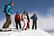 down-hill running, group, helicopter, mountain top, playtime, skier, skies, skiing, sport, top, winter