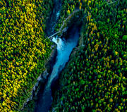 aerial photo, aerial pictures, attractions, canyon, drone aerial, Hällingsåfallet, Jamtland, kanjon, landscapes, summer, swedish mountains, water fall