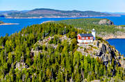 aerial photos, aerial picture, aerial pictures, Angermanland, attraction, attractions, buildings, communications, flygbilder, höga kusten, Högbonden, Högbondens, installations, landscapes, lighthouse, lighthouse tower, summer, summer day, utflyktsmål, water