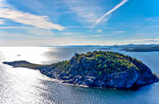aerial photo, aerial photo, aerial photos, Angermanland, attraction, attractions, buildings, coast, drone aerial, fyrvaktarställe, höga kusten, Högbonden, Högbondens, Högbondens Fyr, installations, islands, kobbe, landscapes, lighthouse, lighthouse tower, nature, sea, solitary, unfrequented, lonely, summer, summer day, utflyktsmål, water