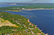 aerial photo, aerial pictures, autumn, bathing, buildings, drone aerial, hotell, installations, konferenshotell, kurort, landscapes, North Bothnia, Pite havsbad, Pitea, Piteå havsbad, playa, samhällen, sandy, sea bathe