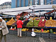 casual trading area, centre, culture, fruit, fungus, mushroom, hotorget, present time, shop, square, Stockholm, trade, vegetables