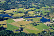 aerial photo, aerial pictures, drone aerial, Halsingland, landscapes, summer