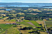 aerial photo, aerial pictures, drone aerial, farms, Halsingland, landscapes, summer