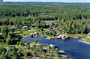 aerial photo, aerial pictures, cabins, drone aerial, Halsingland, landscapes, summer
