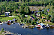 aerial photos, aerial picture, aerial pictures, cabins, flygbilder, Halsingland, landscapes, summer