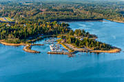 aerial photo, aerial pictures, drone aerial, Hamnskär, installations, landscapes, port, small-boat harbour, summer, Tuppholmen, West Bothnia