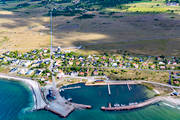 aerial photo, aerial pictures, drone aerial, harbour, oland, samhällen, Sandvik, small-boat harbour, summer