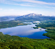 aerial photo, aerial pictures, Areskutan, drone aerial, Helge lake, Jamtland, landscapes, mountain, Sas lake, summer