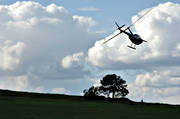 arable land, aviation, cloud, communications, find, fly, helicopter, hunt, moorland, search, search, seek, sky, spy, start, started, summer, tree
