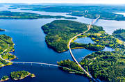 aerial photo, aerial photo, aerial photos, aerial photos, Angermanland, bridge, bridges, communications, drone aerial, drönarfoto, engineering projects, High Coast Bridge, land, landscapes, summer