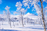 atmosphere, Gaajsartjahke, hoarfrost, landscapes, Lapland, mountain, season, seasons, snow, spring-winter, vita vidder, winter, winter mountains