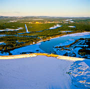 aerial photo, aerial pictures, dam, drone aerial, energy, Herjedalen, hydroelectric installation, hydropower, hydroelectric, installations, kraftverksmagasin, landscapes, Ljusnan, power station, Sveg, Sveg lake, winter, work