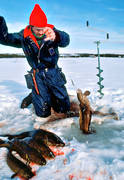 angling, burbot fishing, fishing, ice fishing, ice fishing, ice fishing, Kattstrupe lake, lake, winter fishing