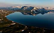 aerial photo, aerial photo, aerial photos, aerial photos, Bahkaslåpptå, drone aerial, drönarfoto, fjällblder, Ikkesjavrre, Lapland, mountain lake, reflection, sandy, summer, swedish mountains