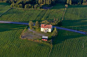 aerial photos, aerial picture, aerial pictures, cabins, flygbilder, Jamtland, NTO, rustic site, summer, Valbacken