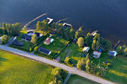 aerial photos, aerial picture, aerial pictures, cabins, flygbilder, Jamtland, summer, villas