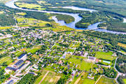 aerial photo, aerial pictures, Angerman river, Angermanland, drone aerial, Junsele, samhällen, summer