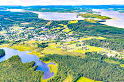 aerial photo, aerial pictures, Angermanland, drone aerial, Junsele, samhällen, summer