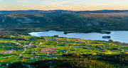 aerial photo, aerial pictures, drone aerial, Jamtland, Klov lake, Klovsjo, landscapes, samhällen, summer, summer evening, swedish mountains, tow light, villages