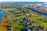 aerial photo, aerial pictures, autumn, drone aerial, farms, Kuivajärvi, Kuivakangas, landscapes, Mattila, North Bothnia, Palosaarenpuras, Palosaari, Pudas, samhällen, Torne älv, Torneälven