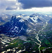 aerial photo, aerial pictures, Alggavagge, Alkavagge, drone aerial, fjällbilder, fjällbäckar, fjälldalar, Guohpervagge, Kuoperskaite, Kuopervagge, landscapes, Lapland, national parks, Sarek, season, seasons, summer, swedish mountains, wilderness
