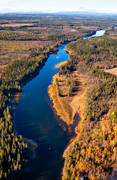 aerial photos, aerial picture, aerial pictures, angling, autumn, fishing spots, flygbilder, Jamtland, Langan, Sladderforsen, Trångforsen, watercourse