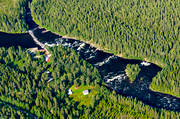 aerial photo, aerial photo, aerial photos, aerial photos, drone aerial, drönarfoto, fishing spots, hydroelectric installation, Jamtland, Langan, Langforsen, power plants, power station, river, summer