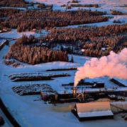 aerial photo, aerial pictures, Brunflo, conservation, drone aerial, emission, environment, environmental damage, environmental influence, factory, industry, Lockne, nature, pollution