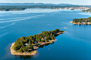 aerial photo, cabins, cottage, drone aerial, Halsingland, Hudiksvallsfjärden, island, islands, landscapes, Malskär, summer