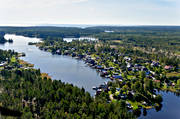 aerial photos, aerial picture, aerial pictures, cabins, flygbilder, landscapes, Medelpad, summer