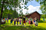 culture, good-fellowship, Jamtland, majstång, midsommardans, midsommarstång, midsummer, midsummer celebrating, present time, summer, summer farm pasture, traditioner